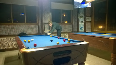 Photo: Relaxing activity 1. Playing pool.