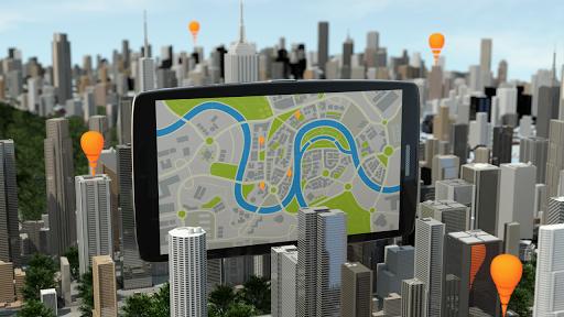 GPS方向トラッカーと地図