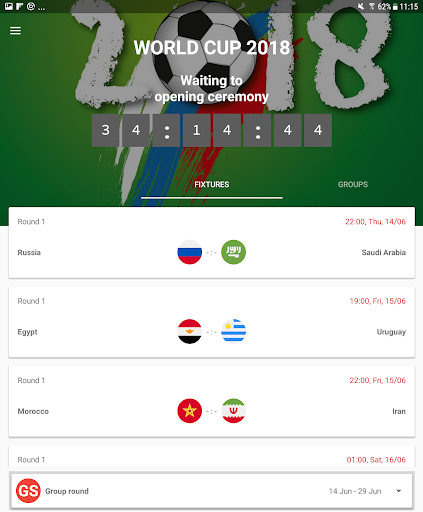World Cup 2018 Live Scores & Fixtures 2.0.1 screenshots 9