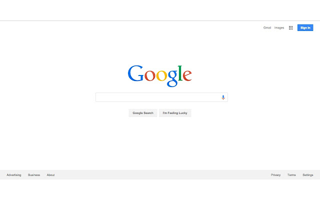 Restore the Google logo back to the year 2014
