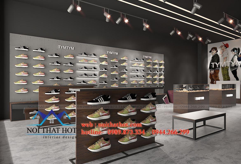 thiết kế shop giày nam 3