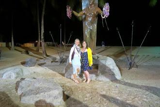 Photo: Minä ja Sarah Venice Beachillä illalla