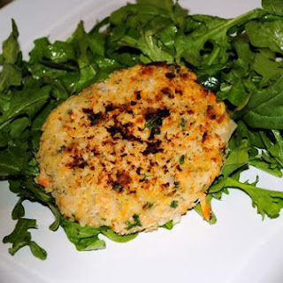 Wild Alaskan Pink Salmon Patties With Spicy Arugula Salad