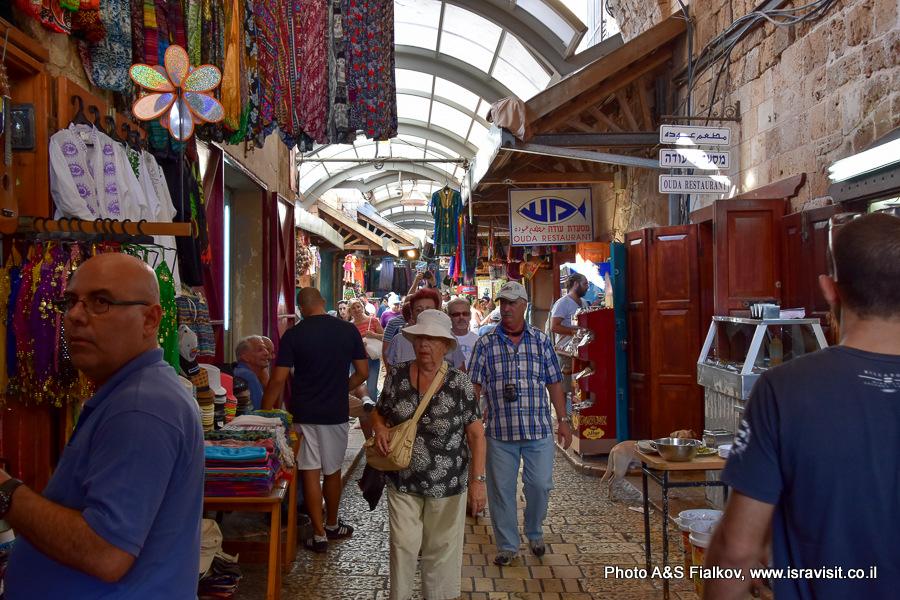 Восточный арабский базар на улицах Акко. На экскурсии гида Светланы Фиалковой.