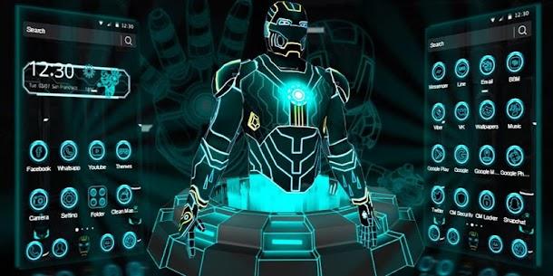 3D Neon Hero Theme apk download 4