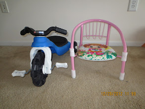 Photo: Toddler Tricycle and Chair - ($10)