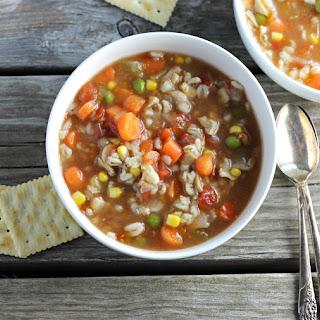 Vegetable Chicken Barley Soup.