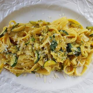 Fettuccine Rigate With Saffron And Zucchini.