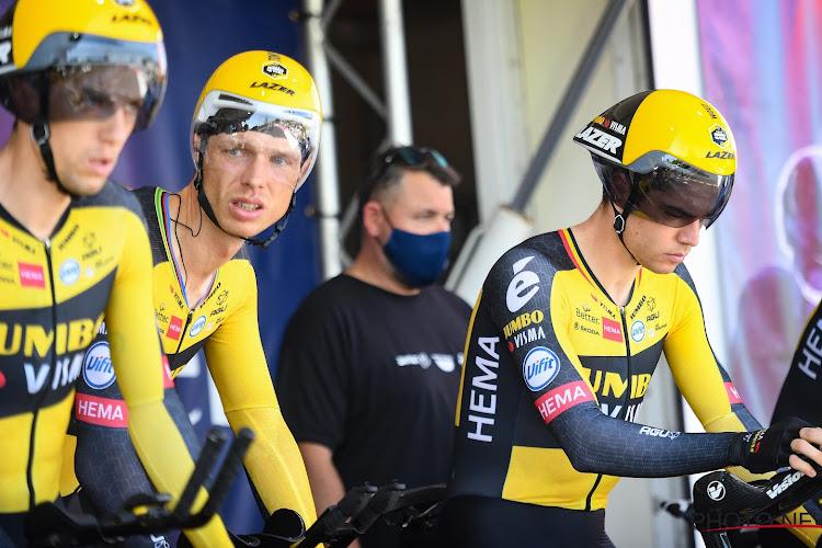 """Wout van Aert schept duidelijkheid over emoties na pech in ploegentijdrit: """"Helemaal niet boos, zeer content en trots"""""""