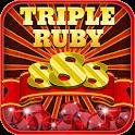 Triple Ruby Slots 888 icon