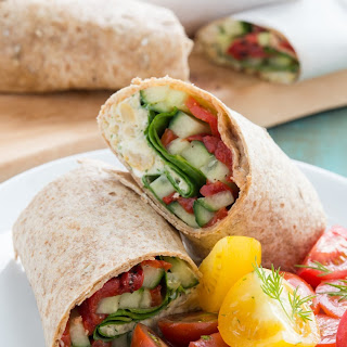 Mediterranean Chickpea and Feta Wraps