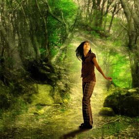 deep in forest by Yolita Yo - Digital Art Places