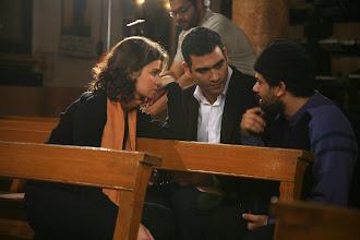Photo: Ahmad Abdalla, in the set of Heliopolis - Cairo 2009, with Heliopolis stars: Hany Adel, Yosra El-louzy