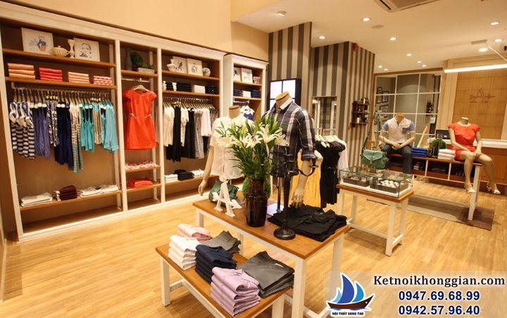 thiết kế shop thời trang với nội thất cách điệu