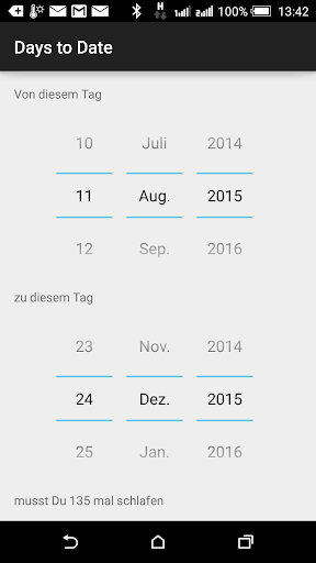 Days to Date