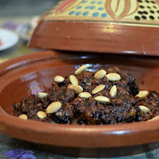 Mrouzia Recipe - Moroccan Lamb Tagine with Raisins, Almonds and Honey.