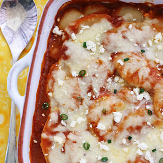 Cheesy Enchilada Scalloped Potatoes
