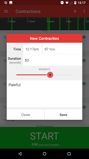 Contractions Timer for Labor 3.1 screenshots 3