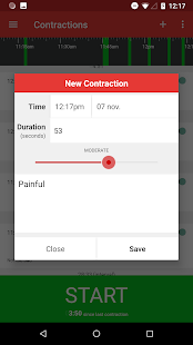 Contractions Timer for Labor Screenshot