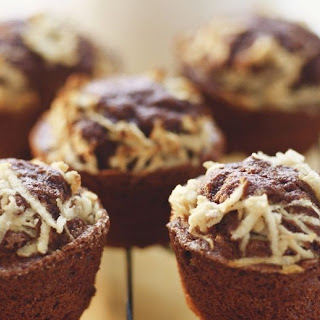 Grated Apple and Chocolate Muffins.