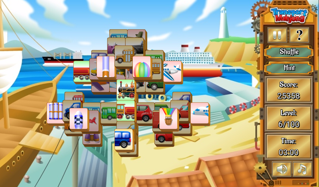 Transport Mahjong- screenshot