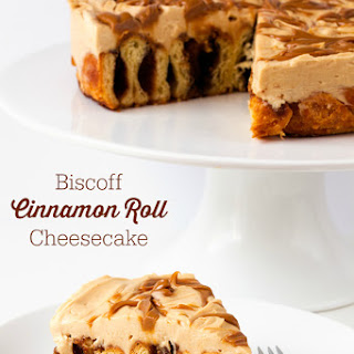 Biscoff Cinnamon Roll Cheesecake