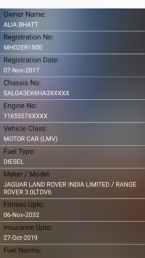 How to find Vehicle Car Owner detail from Number Apk 2