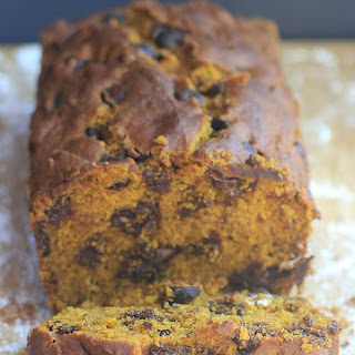 """One Bowl"" Chocolate Chip Pumpkin Bread"