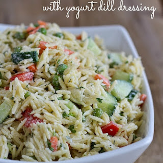 Orzo Salad Recipe with Yogurt Dill Dressing Recipe