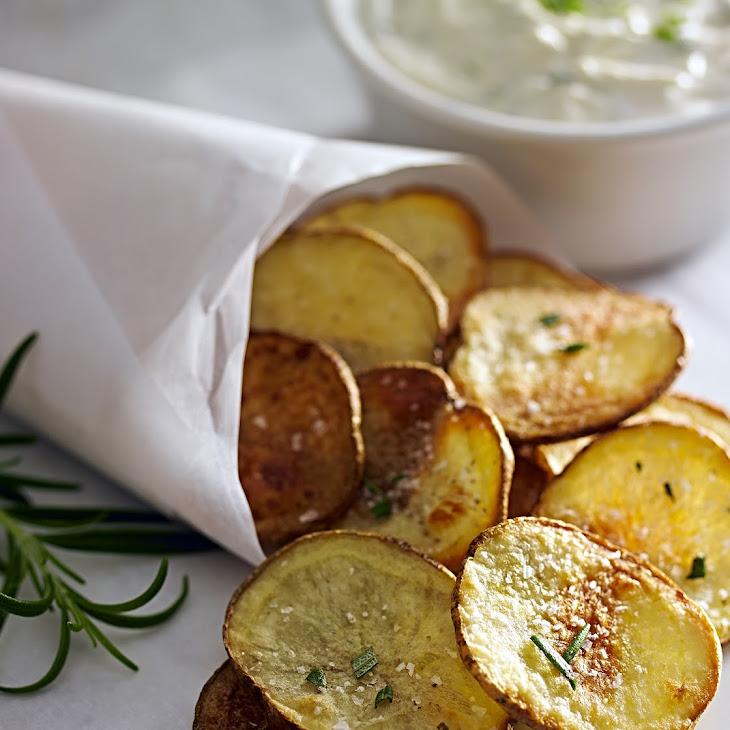 Rosemary Baked Potato Chips Recipe