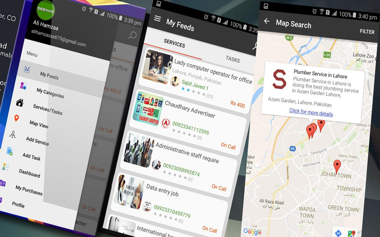Seekkr – Buy & Sell Services- screenshot