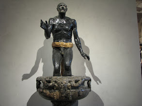 Photo: The fisherman, all is marble, including the eyes