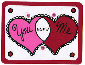 Photo: Mail Art 366 Day 39 Card 39b since that horrid commercial v day holiday is coming