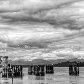 Edmonds Waterfront  by Todd Reynolds - Black & White Landscapes