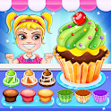 Cupcake Baking Shop: Time Management Games icon