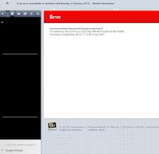 Photo: HAR6042 12~13 error message 1 - before fixing navigation menu
