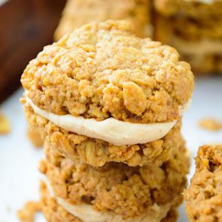 Mini Almond Oat Bran Cookie Sandwiches Recipe