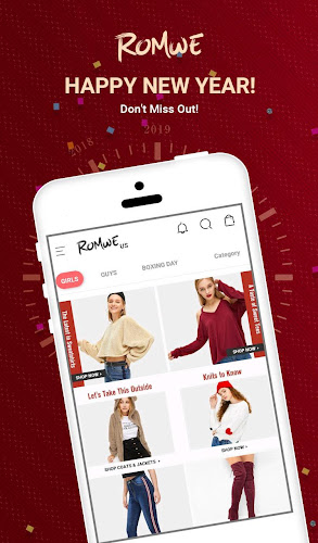 ROMWE - Fashion Store Android App Screenshot
