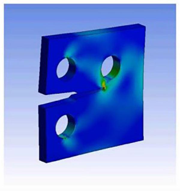 Расчёт распространения трещины по технологии SMART, использующей сетку из тетраэдрических элементов и метод UMM