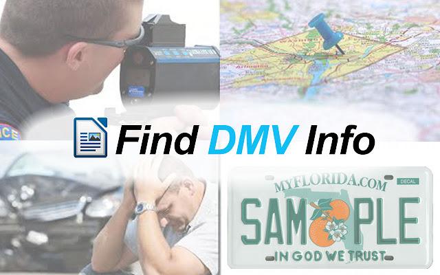 Find DMV Info chrome extension