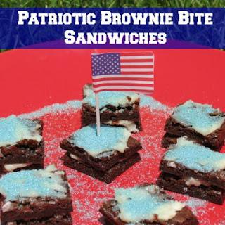Patriotic Brownie Bite Sandwiches