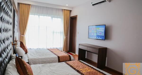 Phòng khách sạn Golden Cô Tô mang lại cảm giác thoải mái, ấm cúng