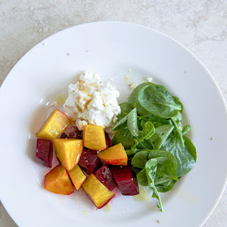 Beet Salad With Goat Cheese and Honey.