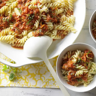 Pasta with Tomato-Walnut Bolognese