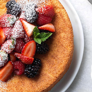 Strawberry Almond Flour Cake.