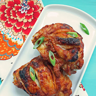 Tandoori Style Chicken Thighs - Low Carb and Gluten Free.
