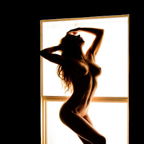 From the other side of the curtains. by Tony Wadham - Nudes & Boudoir Artistic Nude