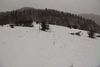 Photo: Lúky pomaly končia, o chvíľu vojdem do lesa. Ako som neskôr zistil, stopy predo mnou boli zrejme poľovníka, lebo končili posedom