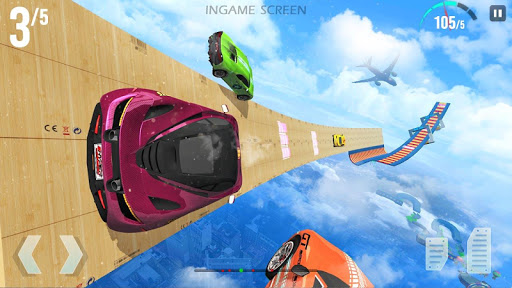 Mega Ramp Race - Extreme Car Racing New Games 2020 apkmind screenshots 12