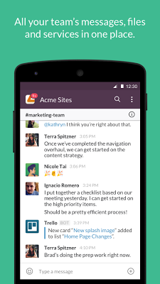 Slack - screenshot